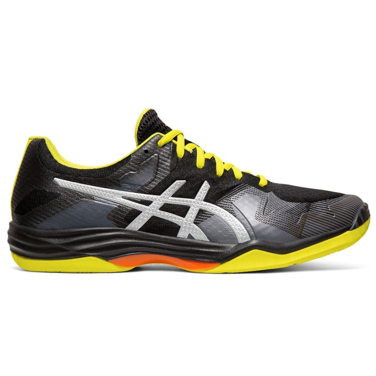 Asics Gel Tactic 2 Mens Court Shoes (Black-Silver) | Direct Badminton