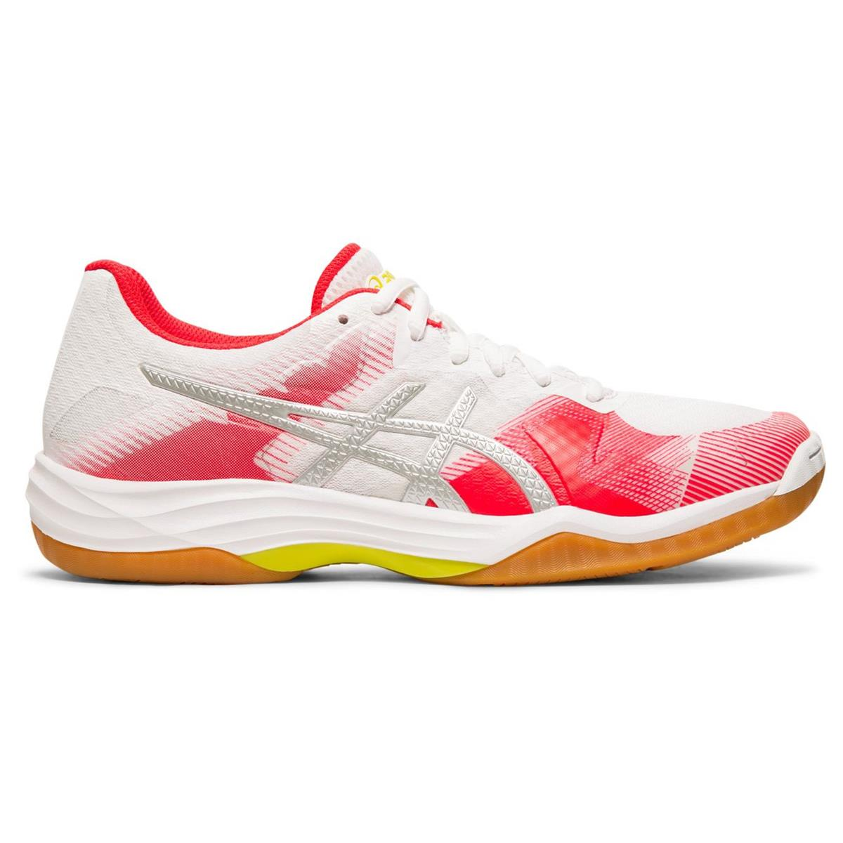 Asics Gel Tactic 2 Womens Court Shoes (White-Silver) | Direct Badminton