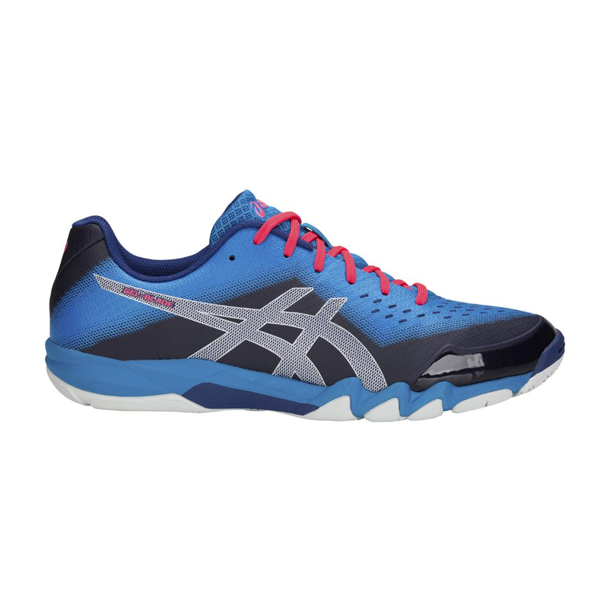 Asics Gel Blade 6 Court Shoes (Blue Print-Silver)  770bf78360259