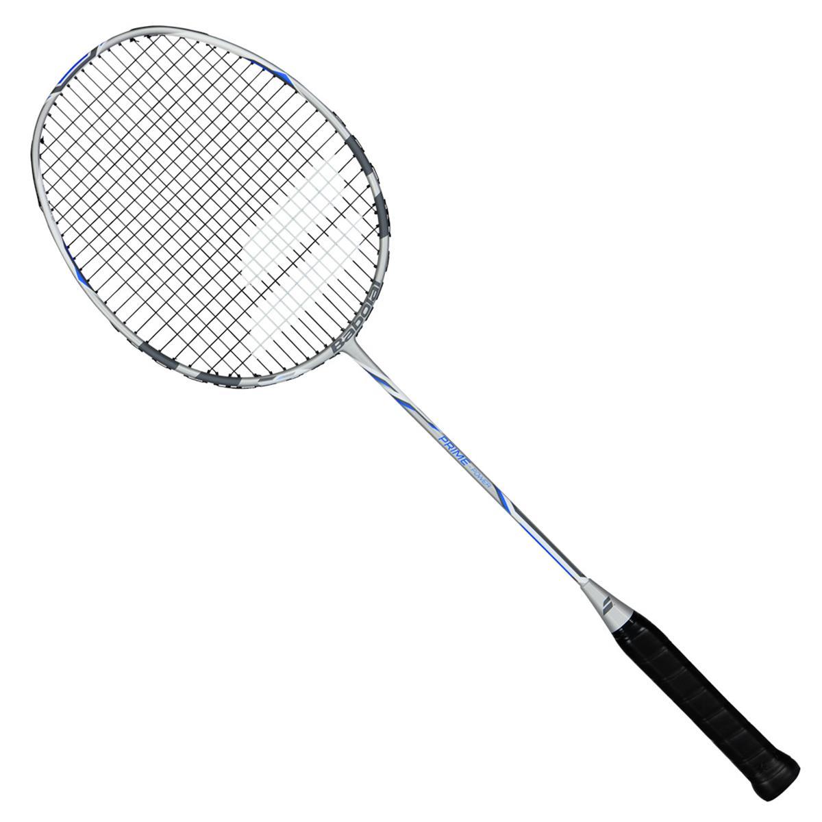 babolat prime power badminton racket  grey