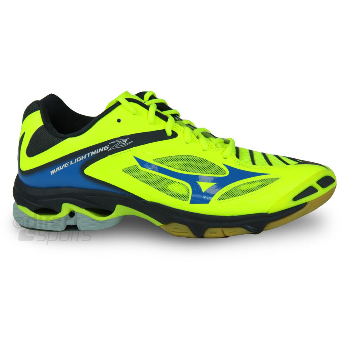 178a615721237 Mizuno Wave Lightning Z3 Mens Court Shoes (Safety Yellow-Dark Shadow)