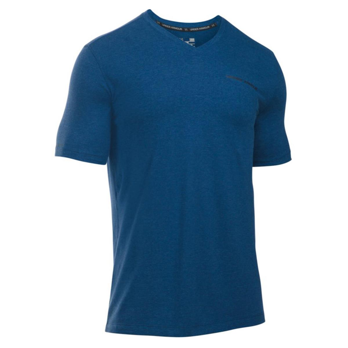9a1e8400ae9 Sports & Outdoor Clothing Men Under Armour Mens Charged Cotton V-Neck Short Sleeve  T-Shirt 1277086