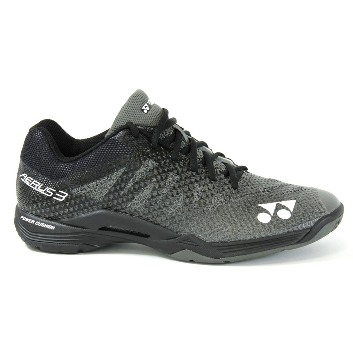 Yonex Power Cushion Aerus 3 Mens Badminton Shoes (Black)  220c902b7