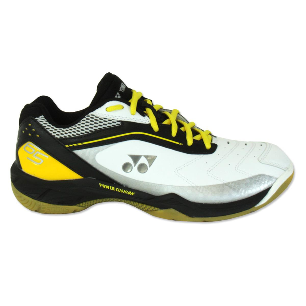Yonex Power Cushion 65 Badminton Shoe (White-Black-Yellow ... 8257f13260817