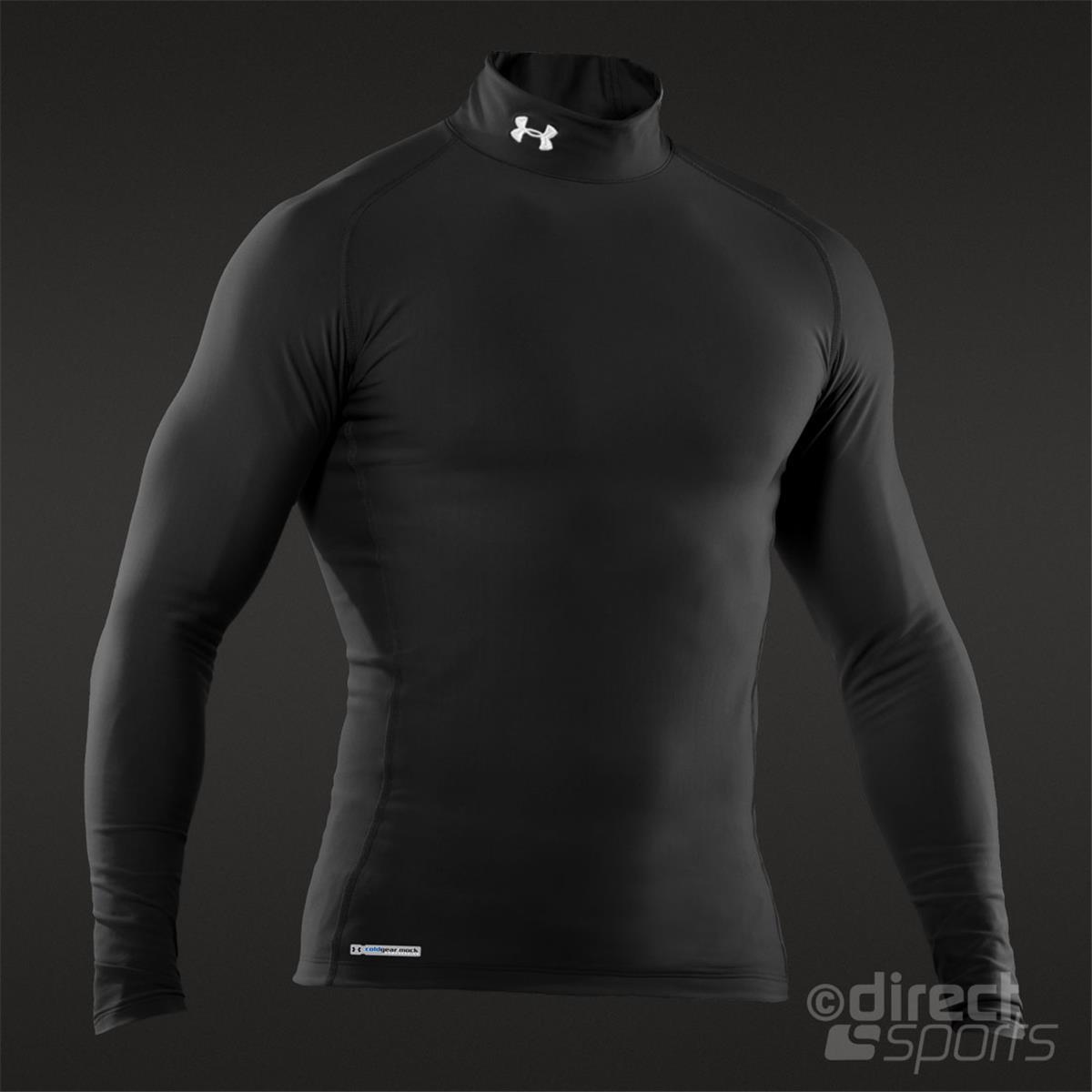 Under Armour Cold Gear Evo Compression Mens Mock Top (Black)