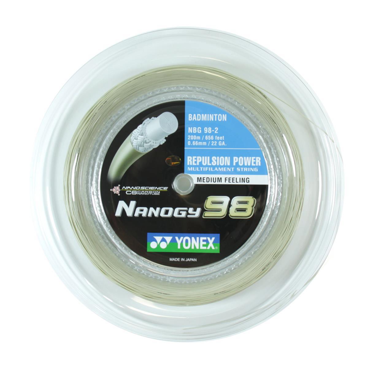 Yonex Nanogy 98 (200 metre reel) Badminton Racket String ...