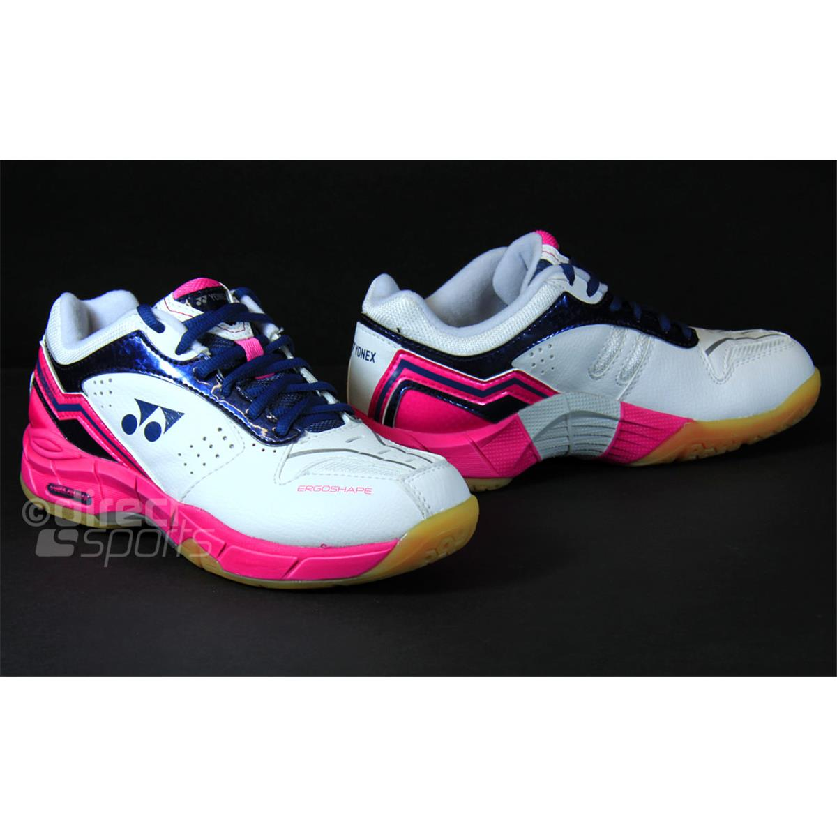 Awesome Yonex SHB SC4LX Women39s Indoor Trainers White With Pink Amp Blue