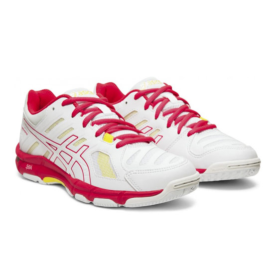 Asics Gel Beyond Womens Court Shoes (White Laser Pink) | Direct Badminton