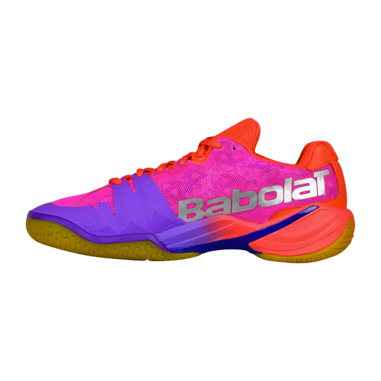 Babolat Shadow Tour Womens Court Shoes (Red-Pink-Purple)