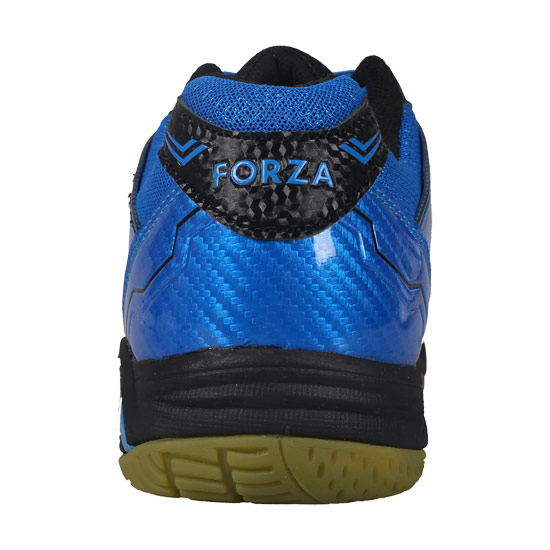Forza Extremely Mens Badminton Shoes (Black-Electric Blue)