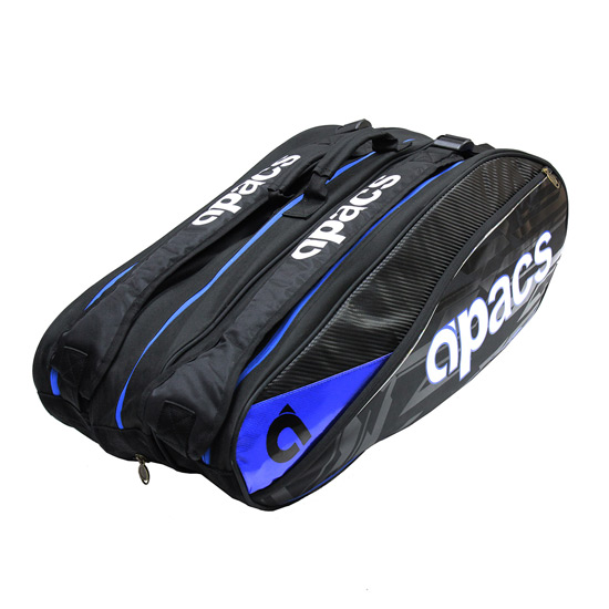 Apacs Triple Racket Bag (Black-Blue)
