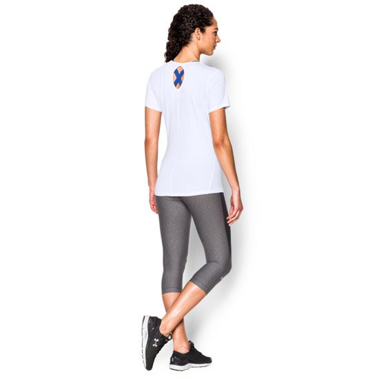 415c8adc Under Armour CoolSwitch HeatGear Womens Tee (White) | Direct Badminton