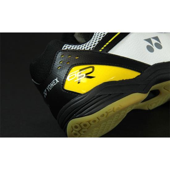 20ded7b898834 Yonex Power Cushion 65R Mens Badminton Shoe (White-Black-Yellow ...