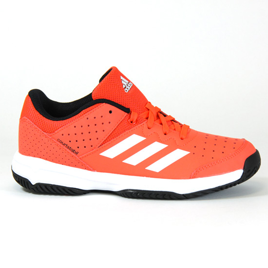 0aeb735717740 adidas Court Stabil Junior Court Shoes (Solar Red-Future White ...