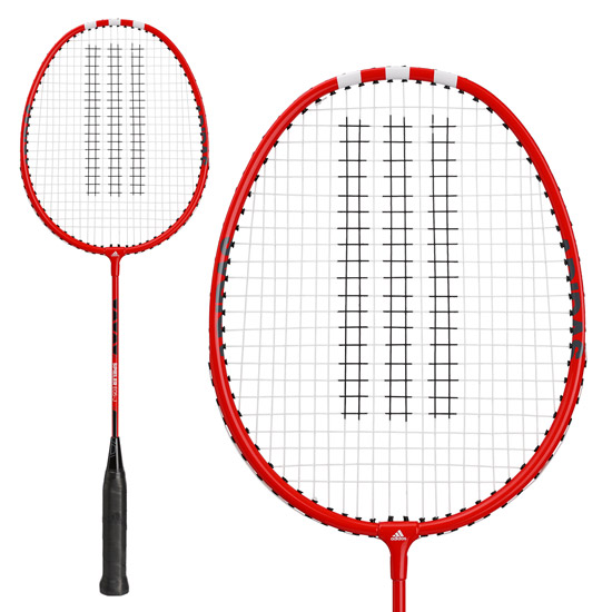 Adidas Spieler E05-J Metal Badminton Racket (Red) with Free 1/2 Head Cover