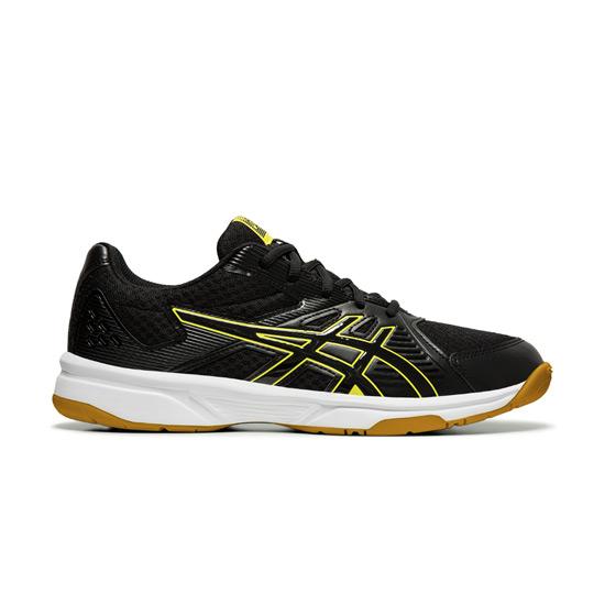chaussures de sport a7369 2b684 Asics Gel Upcourt 3 Mens Court Shoes (Black-Sour Yuzu)   Direct Badminton