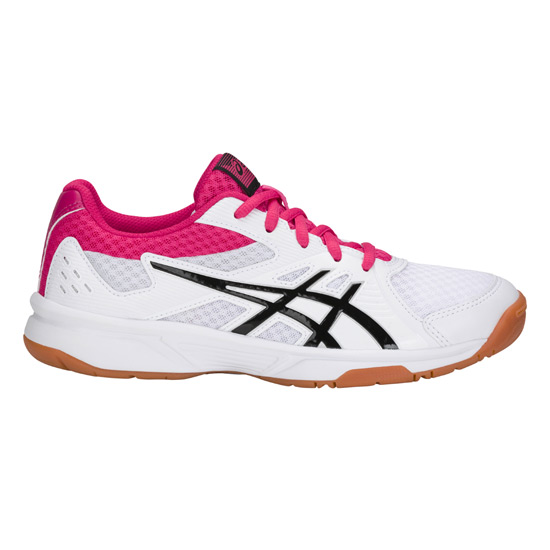 bf65ab972 Asics Gel Upcourt 3 Womens Court Shoes (White-Pixal Pink) | Direct ...