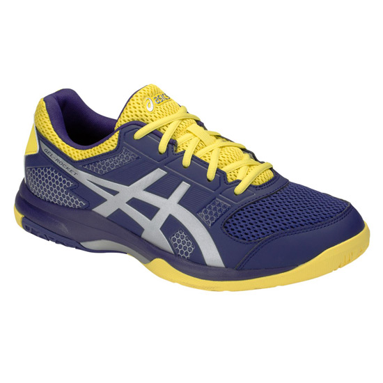 Asics Gel Rocket 8 Mens Court Shoes (Indigo Blue-Silver)