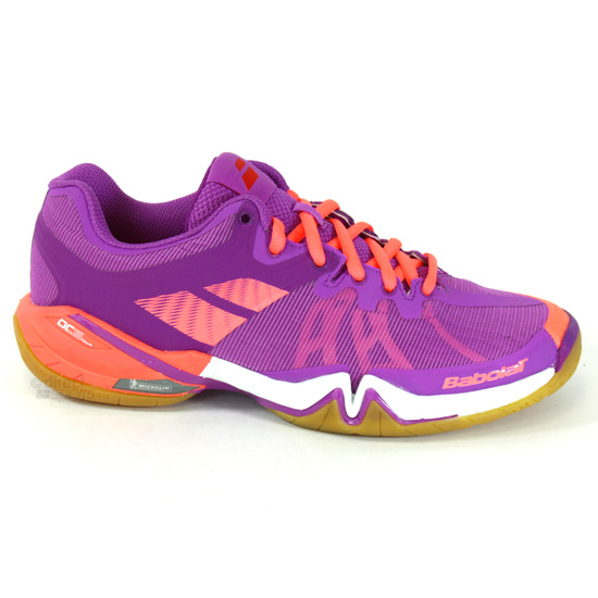 finest selection 984a1 cecb2 Babolat Shadow Tour Womens Badminton Shoes (Purple)