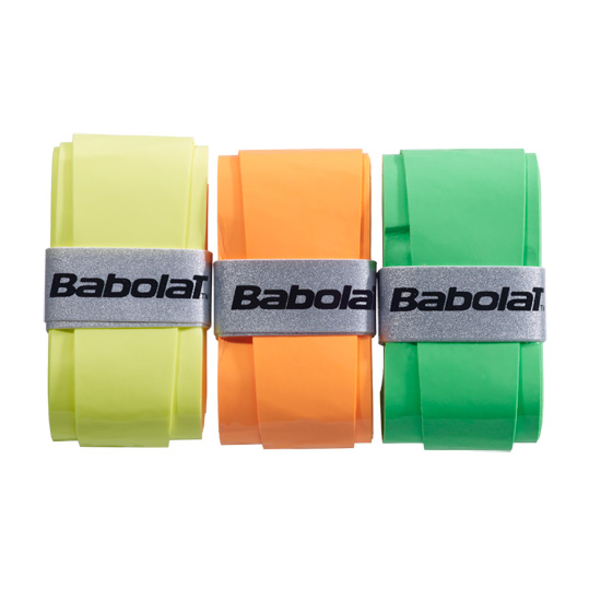 Babolat My Grip Overgrip 3 pack (Fluo Orange-Yellow-Green)