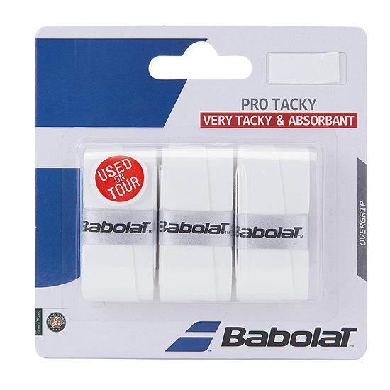 Babolat Pro Tacky Overgrip 3 Pack (White)