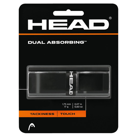 Head Dual Absorbing Replacement Grip (Black)