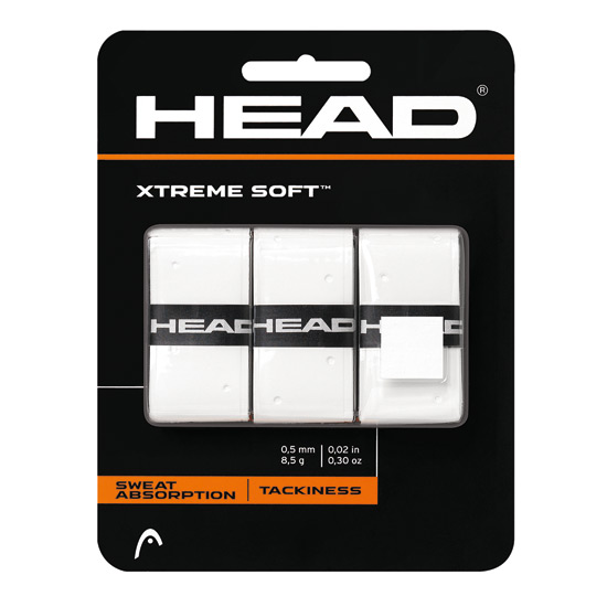 Head Xtremesoft Overwrap 3 Pack Grip (White)