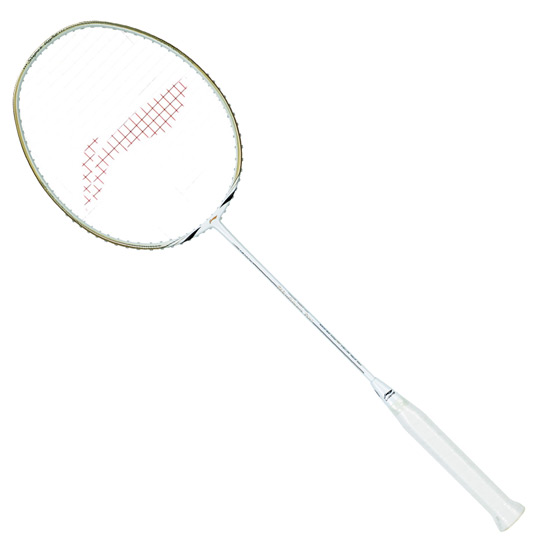 Li-Ning Windstorm 700 Badminton Racket (White-Gold)