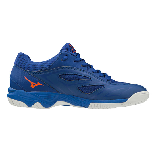 Mizuno Mirage Star 2 Junior Court Shoes (Reflex Blue-White-Nasturtium)