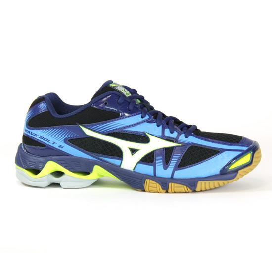 info for 668e6 d5840 Mizuno Wave Bolt 6 Mens Court Shoes (Black-Blue Depths) | Direct Badminton