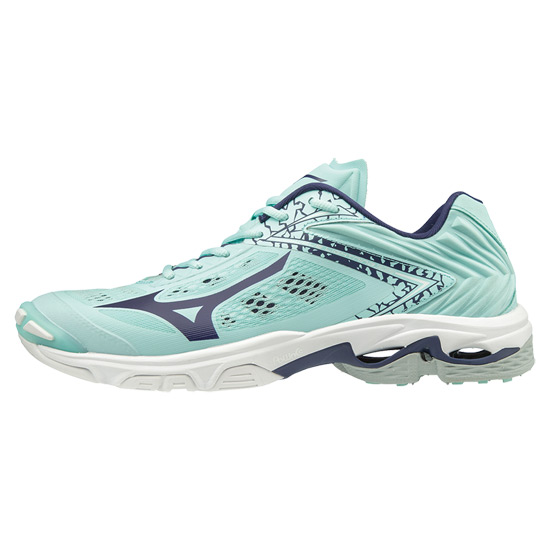 Mizuno Wave Lightning Z5 Womens Court Shoes (Blue Light-Astral Aura-White)