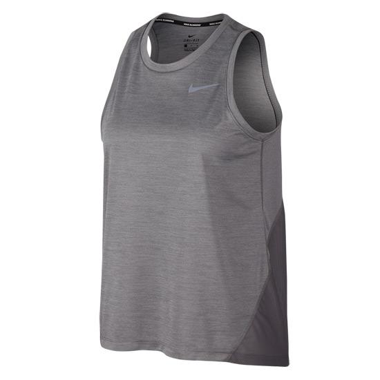 Nike Miler Womens Tank (Gunsmoke Atmosphere Grey Reflective Silver) | Direct Badminton