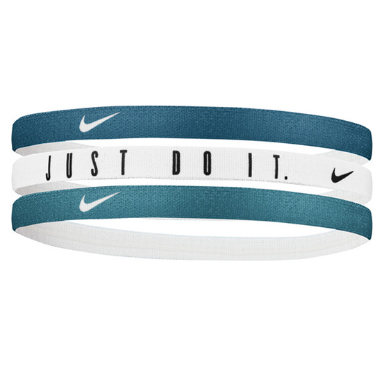 Nike Printed Headbands 3 Pack (Midnight Turq-White-Mineral Teal)