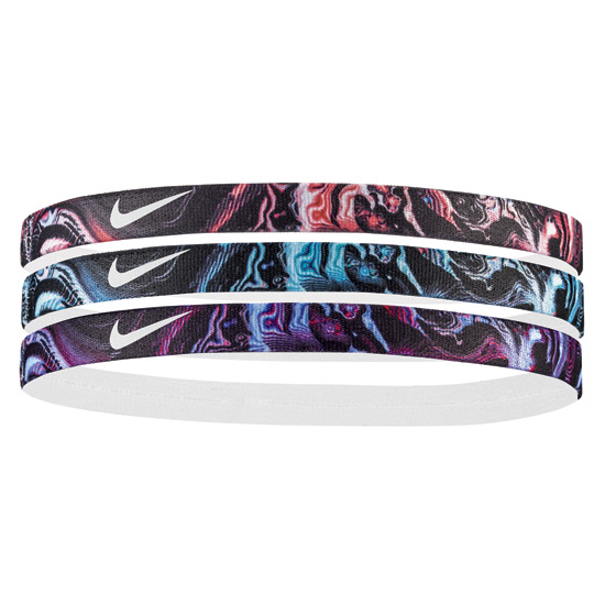 Nike Printed Headbands 3 Pack (Wild Cherry)