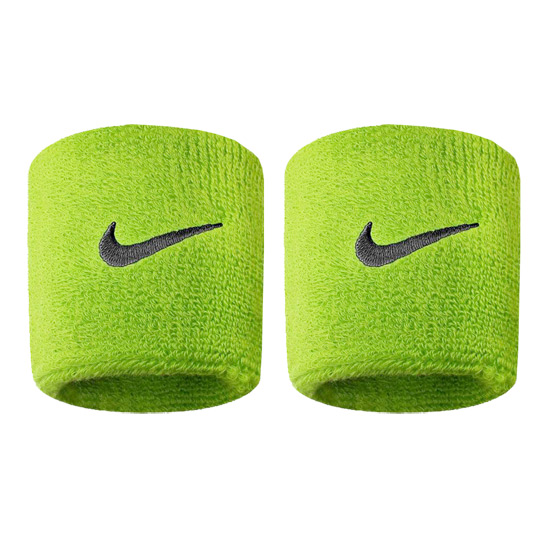 Nike Swoosh Wristbands (Atomic Green-Black)