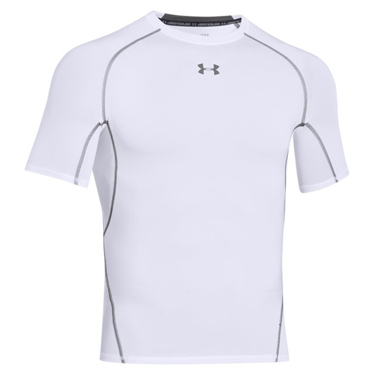 Under armour heatgear compression mens shirt white for Under armour heatgear white shirt
