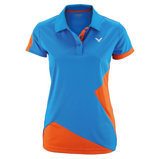 5d7c2601 Victor Team Line Ladies Function Polo Shirt (Orange) | Direct Badminton