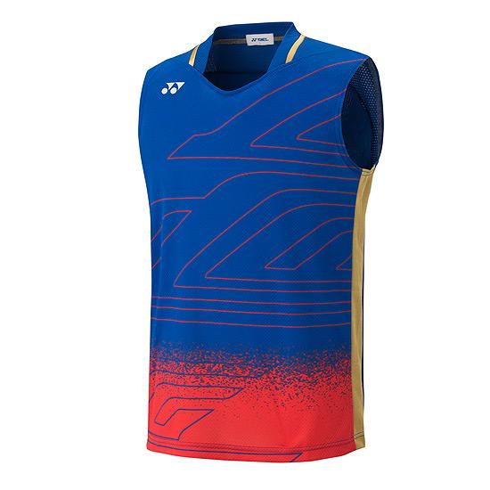 9af44446a70fa Yonex 10003LCW Mens Lee Chong Wei Edition Sleeveless Shirt (Frosty Blue)