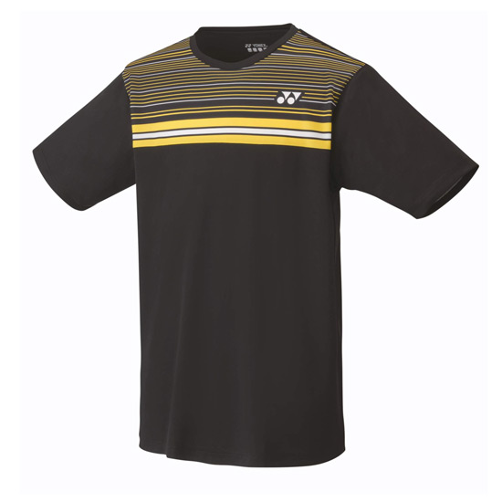Yonex 16347 Mens T-Shirt (Black-Yellow)