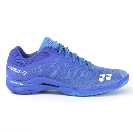 826e3b37338c55 Yonex Power Cushion Aerus 3 Mens Badminton Shoes (Blue)