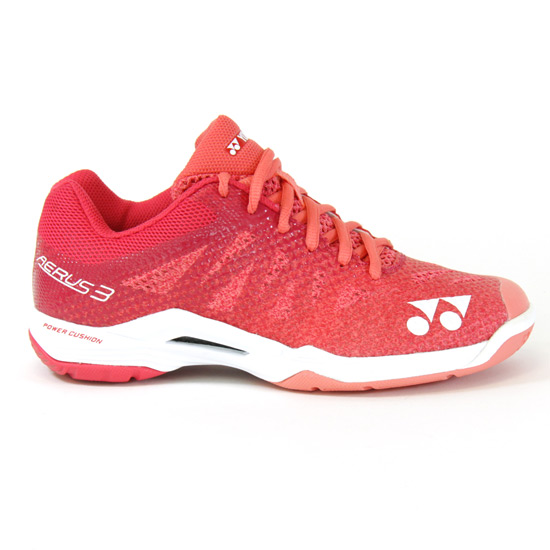 Yonex Power Cushion Aerus 3 Womens Badminton Shoes (Rose)