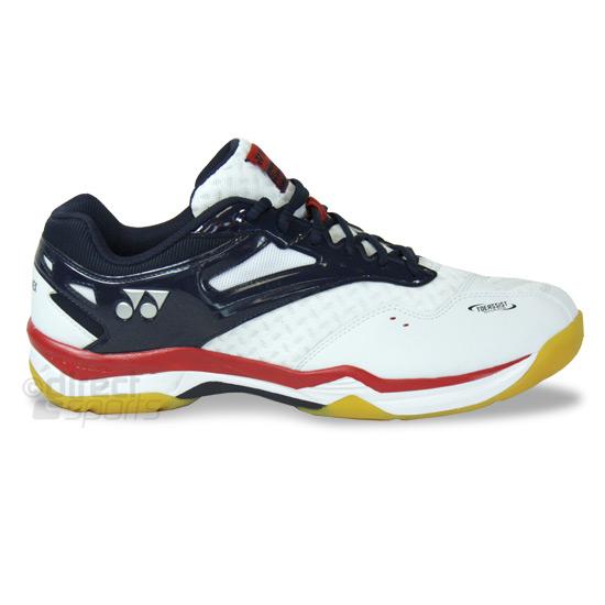 Yonex Power Cushion Comfort Advance 2 Mens Badminton Court Shoes White Navy Direct Badminton