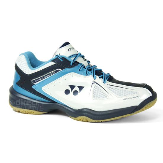 f6694f3d778 Yonex Power Cushion 35 Mens Badminton Shoes (White-Black-Blue ...