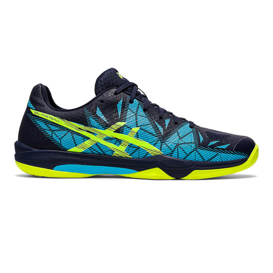 Asics Gel Fastball 3 Mens Court Shoes (Peacoat-Safety Yellow)