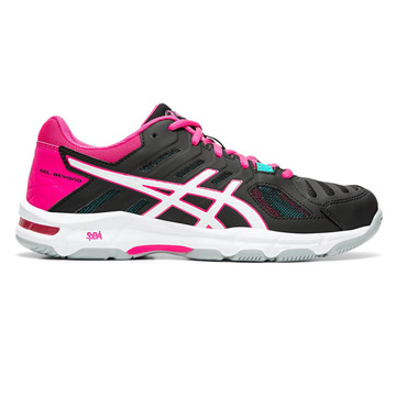 Asics Gel Beyond Womens Court Shoes (Black-Pink)