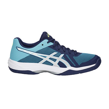 Asics Gel Tactic 2 Womens Court Shoes (Indigo Blue-Silver)